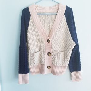 BP Nordstrom cable knit oversize cardigan sweater